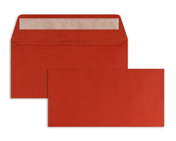 Briefumschlag 110 x 220 mm (DIN Lang) - 100 Stück / VE - Rot