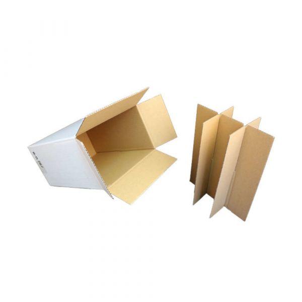 6 er Flaschenverpackung weiß - 235 x 152 x 330 mm