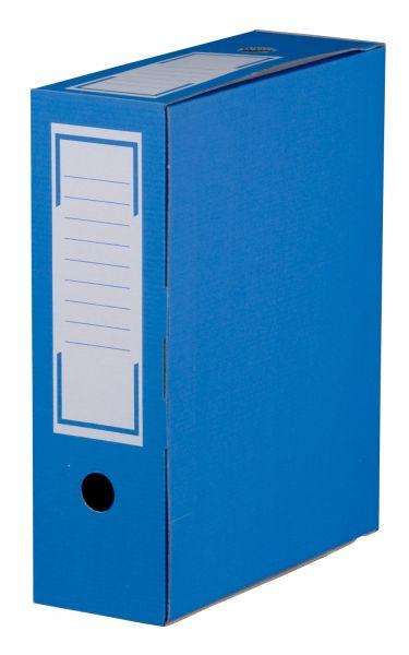 Archiv-Ablagebox 80 blau, geschlossen, 315 x 76 x 260 mm