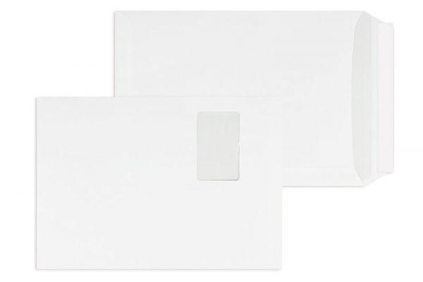 Versandtasche weiß 229 x 324 mm DIN C4 mit Fenster - 250 Stück