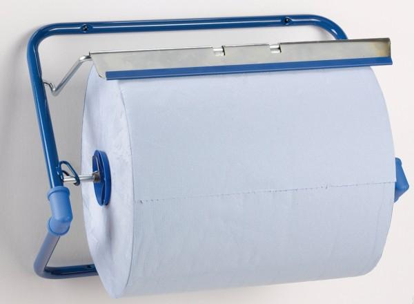 Putztuchrollen-Spender Wandhalter Metall blau
