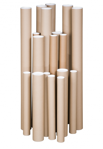 450 x Ø 75 mm - Versandhülse DIN A2 rund mit Deckel