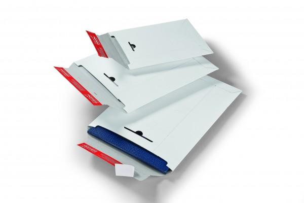CP012.07 Versandtasche Vollpappe weiß 320 x 455 mm Außenmaß