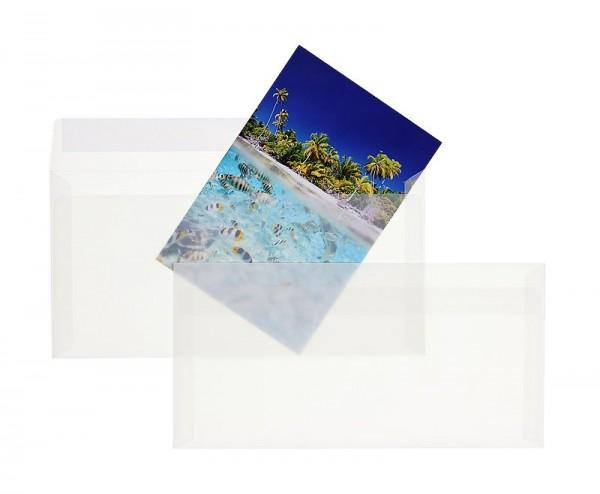 Transparente Briefumschläge im Format DIN lang 110 x 220 mm - 100 Stück