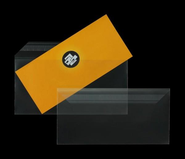 Transparente Briefumschläge im Format 110 x 220 mm DIN lang- 100 Stück