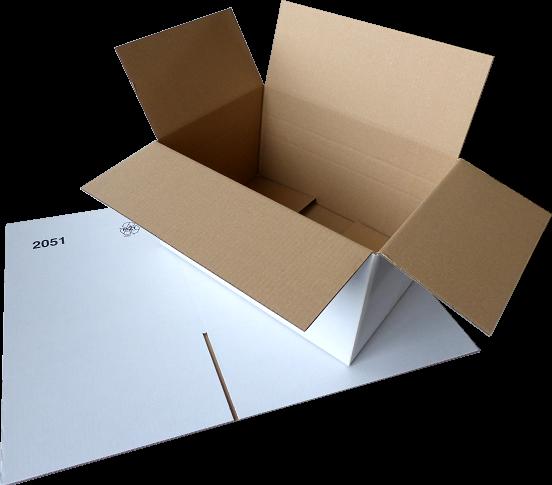 Faltkiste 400 x 300 x 200 mm WEISS - Hermes M-Paket/DHL-Paket