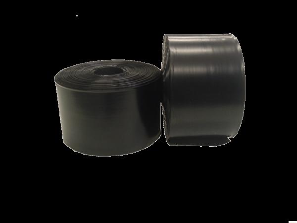 Schlauchfolien 150 x 0,1 mm x Länge 250 m - schwarz