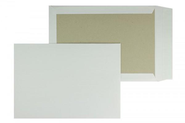 Papprückwandtasche DIN B4 250 x 353 mm weiß - 125 Stück - OHNE Fenster