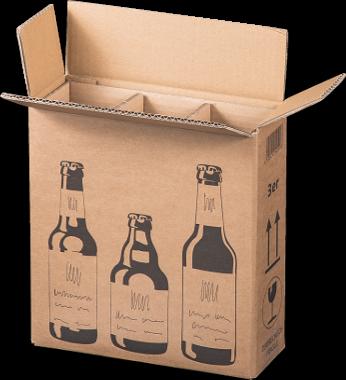 3er Flaschenverpackung - DHL zertifiziert - 255 x 88 x 288 mm