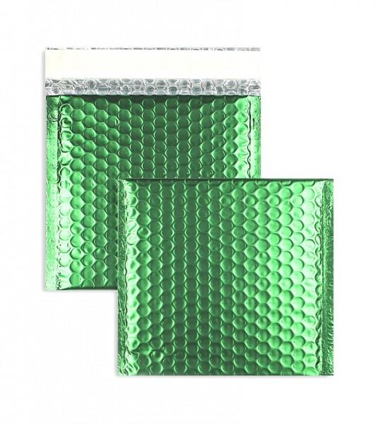 Luftpolstertaschen grün matt - 170 x 185 mm - 10 Stück