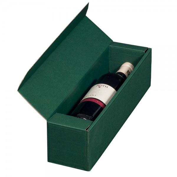 1er Geschenkkarton grün - offene Wellpappe