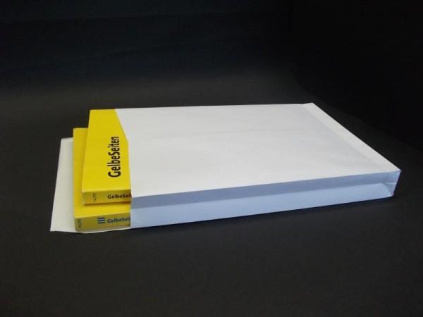 Faltentasche weiß 250 x 353 x 40 mm DIN B4 - 250 Stück