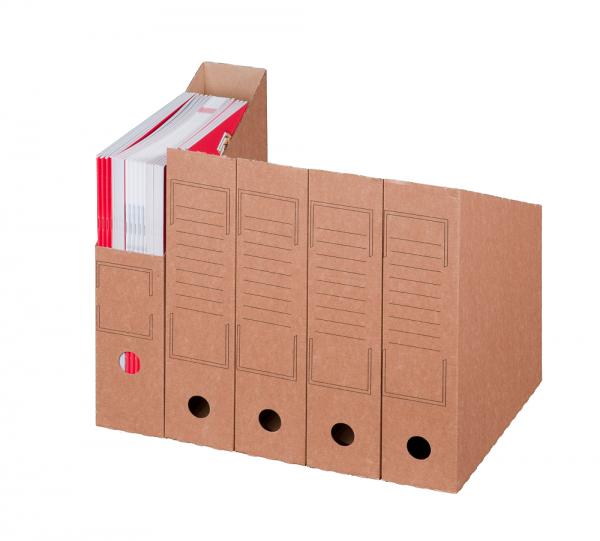 Archiv-Stehsammler offen Breite 75 mm, braun