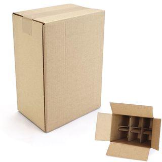 6 er Flaschenverpackung - KEINE PTZ-Zulassung - 235 x 160 x 330 mm