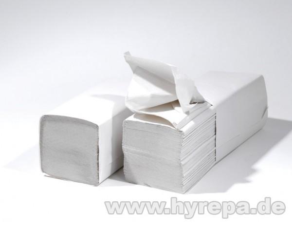Falthandtuch 2-lagig, 3200 Blatt, weiß, soft