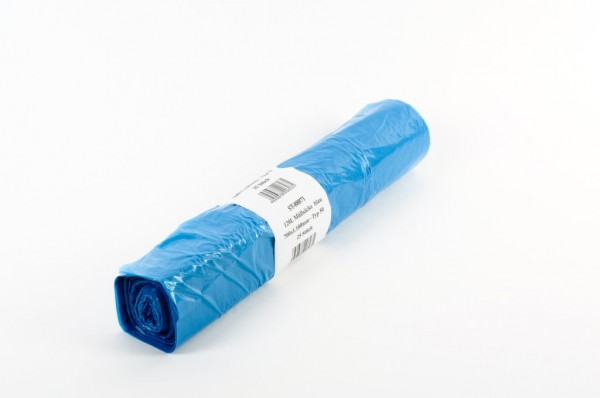 LDPE Müllsäcke 700x1100, blau - 250 Stück