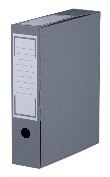 Archiv-Ablagebox 80 grau, geschlossen, 315 x 76 x 260 mm