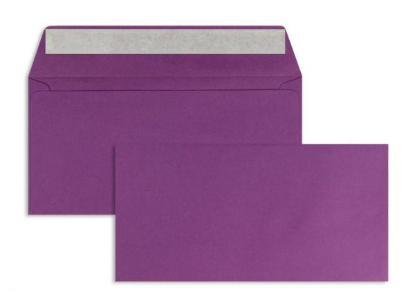Briefumschlag 110 x 220 mm (DIN Lang) - 100 Stück / VE - Violett