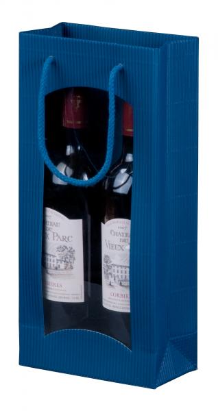 """Tragetasche """"saphir"""" für 2 Weinflaschen 170 x 85 x 360 mm"""