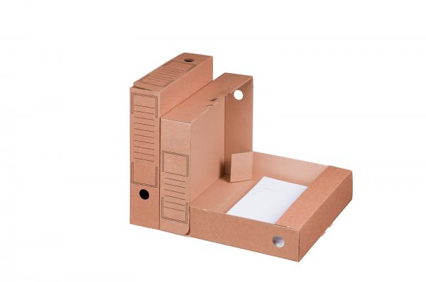 Archiv-Ablagebox 319 x 94 x 257 mm, braun