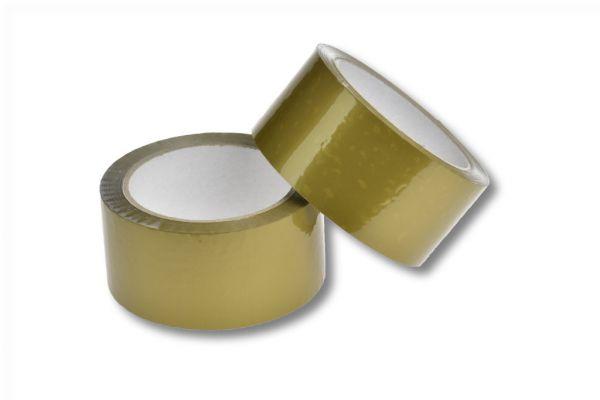 Klebeband 50 mm x 66 lfm. - PP gold | VE 36 Stück