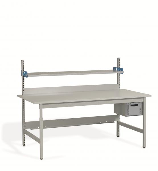 Komplett-Packtisch 2000 x 900 mm, Schublade, höhenverstellbar