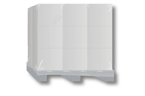 Schrumpfhaube 1250 + 850 x 1800mm, 125my (125µ) für Europaletten