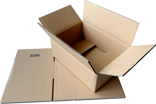 Faltkiste 350 x 250 x 120 mm - Hermes M-Paket/DHL-Päckchen