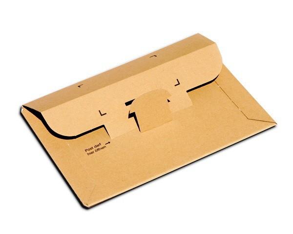 350 x 250 x 1 bis 50 mm - Großbrief / Versandtasche mit Steckverschluß