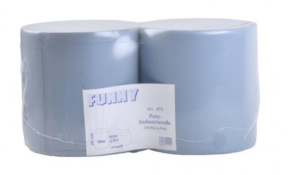 """Putztuchrolle """"Funny"""", 3-lagig, blau, 26 x 38 cm, 2 Rollen"""