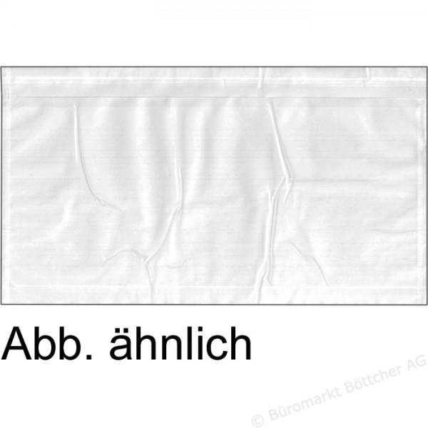1000 Dokumententaschen DIN lang - TRANSPARENT - AM 232 x 126 mm