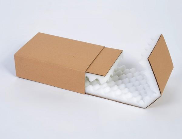 Noppenschaum Schiebehülle 150 x 100 x 50 mm braun - 2-teilig