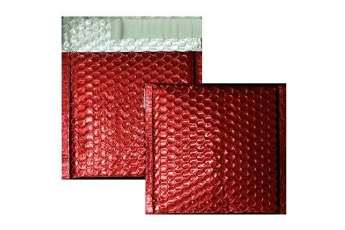 Luftpolstertaschen rot glänzend - 170 x 185 mm - 10 Stück