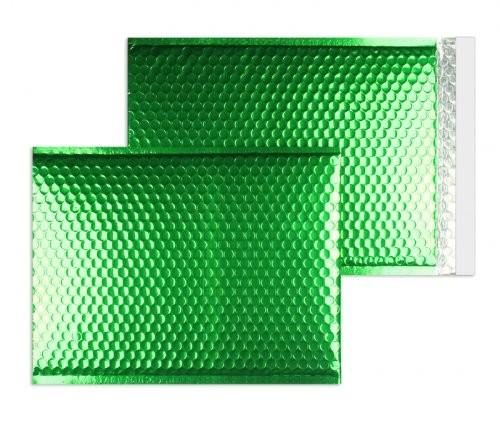 Luftpolstertaschen grün glänzend - 200 x 250 mm - 10 Stück