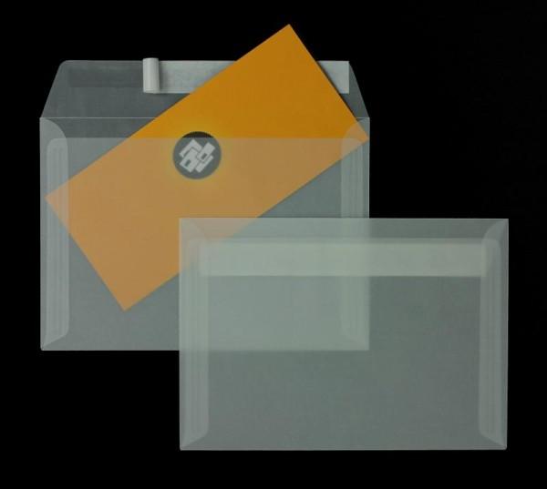 Transparente Briefumschläge im Format 114 x 162 mm DIN C6- 100 Stück