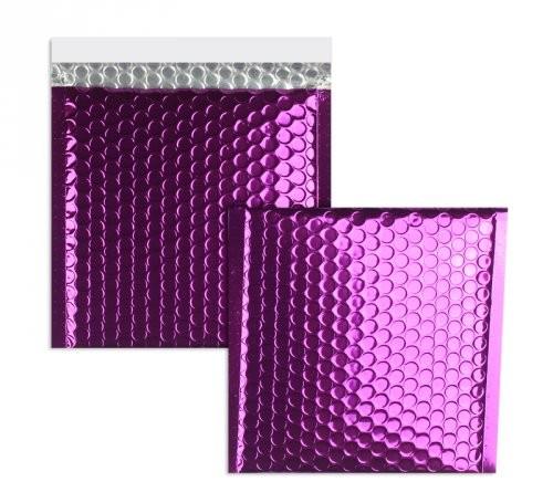Luftpolstertaschen violett glänzend - 170 x 185 mm - 10 Stück