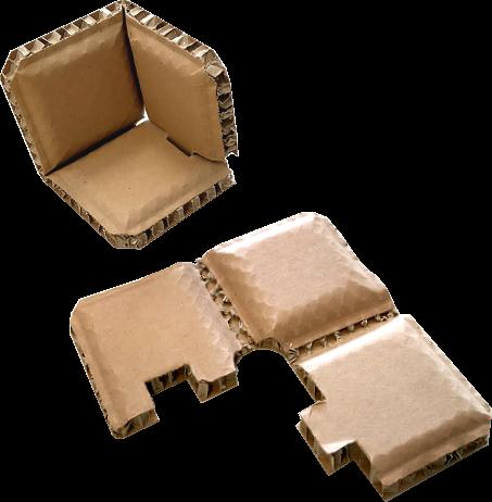 Schutzecken aus Wabenplatte - 120 x 120 x 120 mm