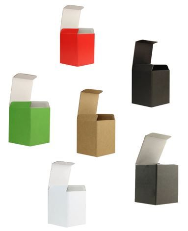 Geschenkkarton 86 x 86 x 105 mm - farbig