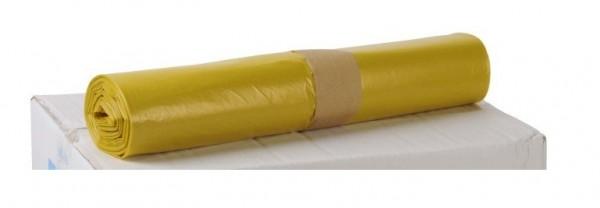 LDPE Müllsäcke 700x1100, gelb - 250 Stück