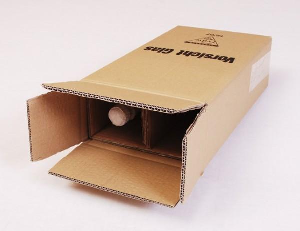 2 er Flaschenkarton - PTZ-Zulassung Post/DHL und UPS