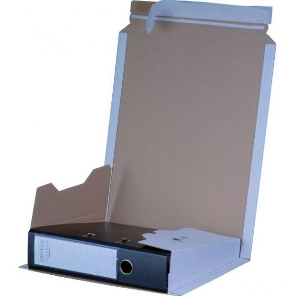Ordnerverpackung WEISS DIN A 4 - Rückenhöhe bis 80 mm