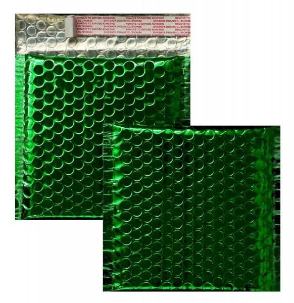 Luftpolstertaschen grün glänzend - 170 x 185 mm - 10 Stück