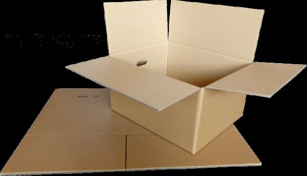 Faltkiste 600 x 500 x 300 mm - Faltkarton mit 2 Handgriffanstanzungen