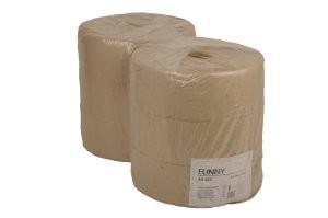 """Jumbo-Toilettenpapier """"Funny"""" 1-lg natur - 6 Rollen/Pack"""