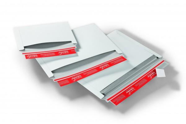 CP017.02 Versandtasche C5 Vollpappe weiß 250 x 176 mm Außenmaß
