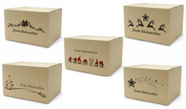 Faltkiste 300 x 215 x 140 mm - Größe DIN A4 - Weihnachtsdruck