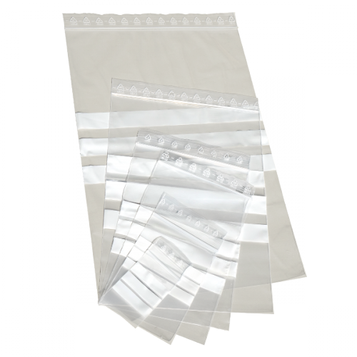 1000 LDPE Druckverschlussbeutel 160 x 220 mm, 50µ mit Beschriftungsfeld