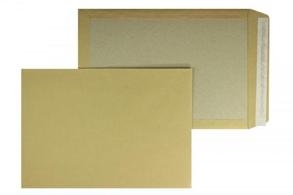 Papprückwandtasche DIN B4 250 x 353 mm braun - 125 Stück - OHNE Fenster