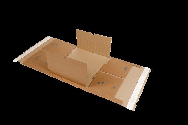 MW365/GF65 Buchverpackungen 350x320x20-100 mm - mittig befüllbar, robust, Gigafix