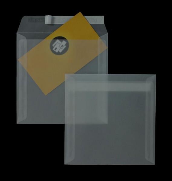 Transparente Briefumschläge im Format 160 x 160 mm - 100 Stück